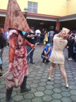 pyramid head and nurse 10 by UltharCosplay