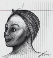 Sketch of woman. by Riquis101