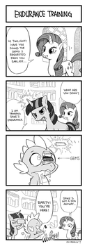 MLP 4koma Page 2: Endurance Training by hydrowing