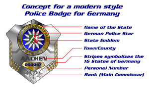 German Police Badge concept by Pencilshade