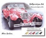 Ballpoint pen red car by ArtisAllan