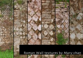 Roman Wall textures by martinacecilia