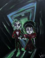 Mini beetlejuice and lydia by AmandaPainter87