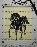 Paper Cut Horse by stories-in-paper