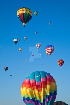 Vibrant Hot Air Balloons VI by somadjinn
