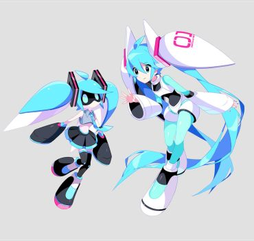 VoidollMiku and MikuVoidoll by chamooi