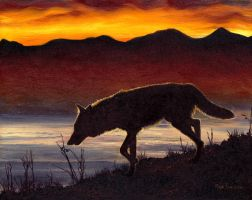 The Wolf in Twilight by Hareguizer