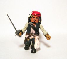 Captain Jack Sparrow Custom Minimate by luke314pi