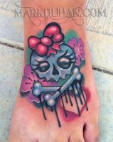 GIRLY SKULL FOOT by amduhan