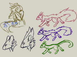 creature sketches by kvty