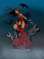 Elektra and DD by Bill Meiggs by Blindman-CB