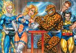 INVISIBLE WOMAN VS. THE THING SKETCH CARD PUZZLE by AHochrein2010