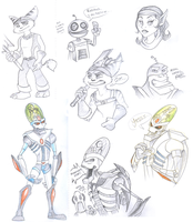 Ratchet and Clank sketches by BecSparrow