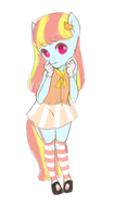 tangerine anthro pony adopt ( taken ) by Chu-EecoliAdopts