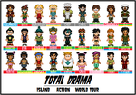 Total Drama Cast Up To Date by SWSU-Master