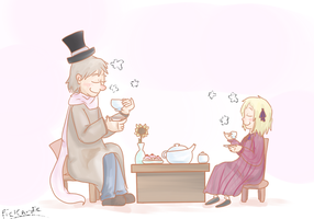 Russia and Liechtenstein's Tea Party by Flutter-Butter