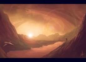 sunset - speed painting by padisio