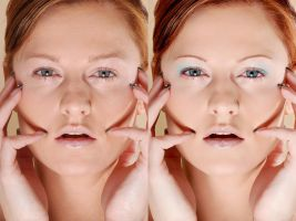 Before and After Retouch 2 by ale2xan2dra