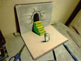 3D Drawing - Escape by NAGAIHIDEYUKI