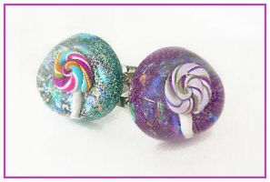 Lolly Drop dome rings by SugarRoxx