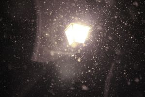 light in the falling snow by Theinkcat