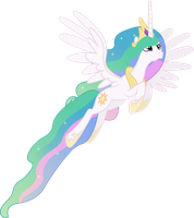 Princess Celestia Flying (2) by 90Sigma