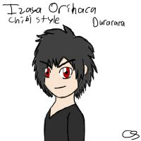 Chibi Izaya Orihara (i failed on this lol) by GZLTriforce128