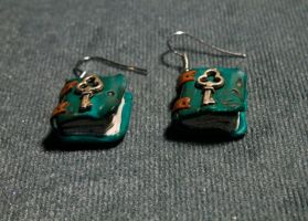 Book earrings by Nabila1790