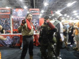 Phoenix Comicon 2015 MGS5-Ocelot and Big Boss by Demon-Lord-Cosplay