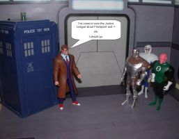 Doctor Who meets JLU by Aradrath
