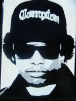 Eazy-E Stenciled Canvas by CRONENZ