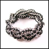 Braided Persian Bracelet by redpandachainmail
