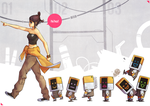 Snow and the Seven Bots by lires