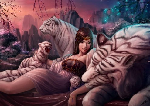 Tiger Lady by Luches