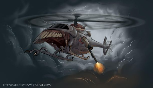 Hell-icopter - Nightmare by wheredreamsdiverge