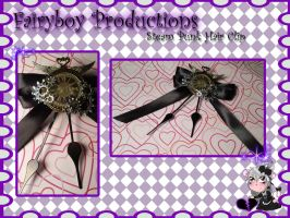 Steam Punk Hair Clip by LunarFoxDesigns