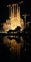 Sagrada Familia Reflections by gdphotography