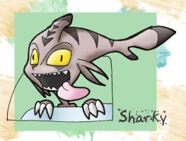 sharky crazy by Almiux19