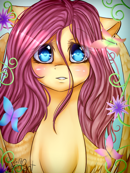She's with nature (with speedpaint) by wolfchen999