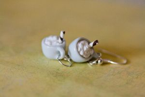 Whipped Mocha Coffee Morning Earrings by MiniSinLove
