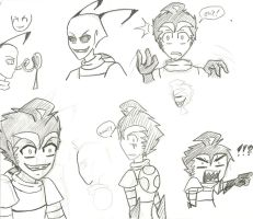 Invader Zim doodles by Alison-lynn