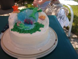 mermaid cake by Glori305