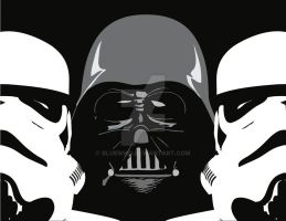 Darth Vader and Co by BlueWho