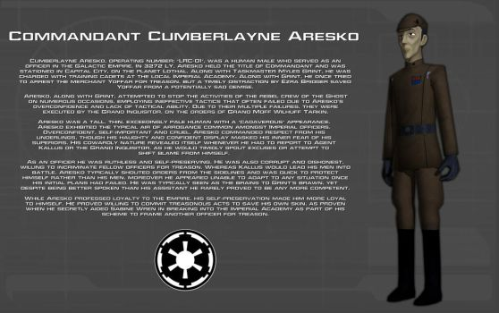 Commandant Cumberlayne Aresko character bio [New] by unusualsuspex
