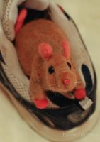 Needle felted Rat by azu-55