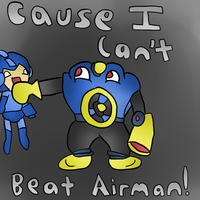 I can't beat airman!~ by thegamingdrawer
