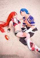 Kamina cosplay Tengen Toppa Gurren Lagann Althair by AlthairLangley