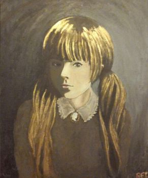Portrait of a Victorian Girl by AngelOfHalloween