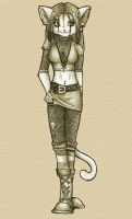 Goth Cat Anthro by malta