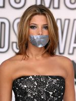 Ashley Greene gagged with tape by ikell